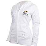 Mizzou Under Armour White Zip  Hooded Sweat Shirt