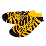 Mizzou Black & Gold Tiger Stripe Ankle Socks