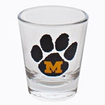 Mizzou Paw Print Shot Glass