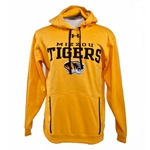 Mizzou Men's Gold Under Armour Hooded Sweatshirt