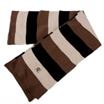 Missouri Cream Black Brown Striped Scarf