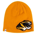 Mizzou 3-D Tiger Head Gold Beanie