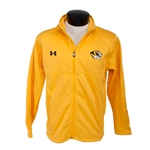 Under Armour Mizzou Men's Gold Full-Zip Jacket Tiger Head Left Chest
