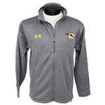 Under Armour Mizzou Men's Grey Full-Zip Jacket Tiger Head Left Chest