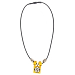 Mizzou SEC Black & Gold Bead Necklace