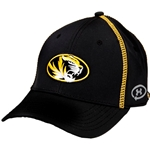 Mizzou Under Armour Tigerhead Black with Gold Stitching Hat