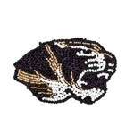Mizzou Tiger Head Beaded Pin