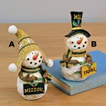 Mizzou Assorted Stuffed Button Leg Snowmen