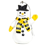Missouri Tigers Black & Gold Snowman Ornament