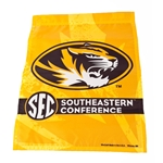 Mizzou Oval Tiger Head SEC Gold Garden Flag