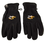 Mizzou Tiger Head Thermerator Black Gloves