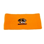 Mizzou Tiger Head Gold Headband