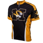 Mizzou Tiger Head Black & Gold Cycling Jersey