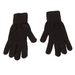 Men's Black Knit Gloves
