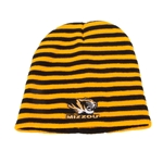 Mizzou Tiger Head Black & Gold Knit Beanie