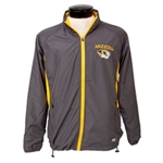 Mizzou Tigerhead Full Zip Grey Windbreaker