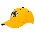 Mizzou Tiger Head SEC Gold Velcro Adjustable Hat