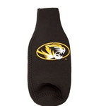 Mizzou Tiger Head Black and Gold Bottle Koozie