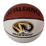 Mizzou Spalding Oval Tiger Head Autograph Basketball