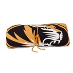 Mizzou Gold Oval Tigerhead Rolled Blanket