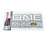 One Mizzou Oval Tiger Head Decal