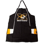 Mizzou Tiger Head Black BBQ Apron