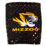 Mizzou Tiger Head Black Bling Collapsible Koozie