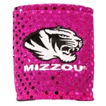 Mizzou Tiger Head Pink Bling Collapsible Koozie