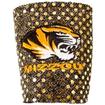 Mizzou Tigerhead Gold Bling Collapsible Koozie
