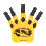 Mizzou Oval Tiger Head Black & Gold Foam Claw