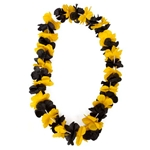 Mizzou Black & Gold Flowered Lei