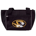 Mizzou Oval Tiger Head Black Tote Bag