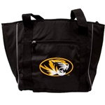 Mizzou Tiger Head Large Black 30 Can Cooler Tote Bag