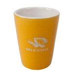 Mizzou Tiger Head Gold Ceramic Etched Shot Glass