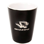 Mizzou Tiger Head Black Ceramic Shot Glass