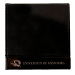 University of Missouri Black Leather Post It Note Holder