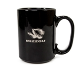 Mizzou Tiger Head Black Ceramic Mug