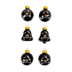 Mizzou Mini Glass Sports Ornaments 6 Pack