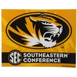 Mizzou Oval Tiger Head SEC Decal