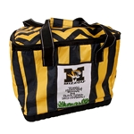 Mizzou M with Tiger Head Black and Gold Cooler Bag