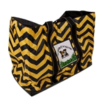 Mizzou M with Tigerhead Black and Gold Large Tote Bag