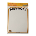 University of Missouri Tiger Head Dry-Erase Wall Sticker