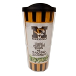 Mizzou Tigers Black & Gold Striped Travel Mug