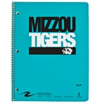Mizzou Tigers Stacked Tigerhead Purple One Subject Spiral Notebook