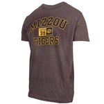 Mizzou 1839 Oval Tigerhead Grey T-Shirt