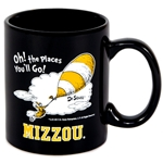 Mizzou Dr. Seuss Oh! The The Places You'll Go! Black Mug