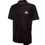 Mizzou Cutter & Buck Tiger Head Drytec Black Polo