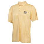 Mizzou Cutter & Buck Tiger Head Embossed Gold Polo
