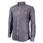 Mizzou Antigua Tiger Head Black Dress Shirt