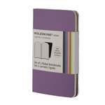 Moleskine Volant Purple/Lavender Large Plain Notebook (Set of 2) (5 x 8.25)
